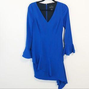 Shani royal blue asymmetrical dress size 2
